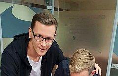 Fußballspieler eines österreichischen Erstligisten Club FC Admira Wacker