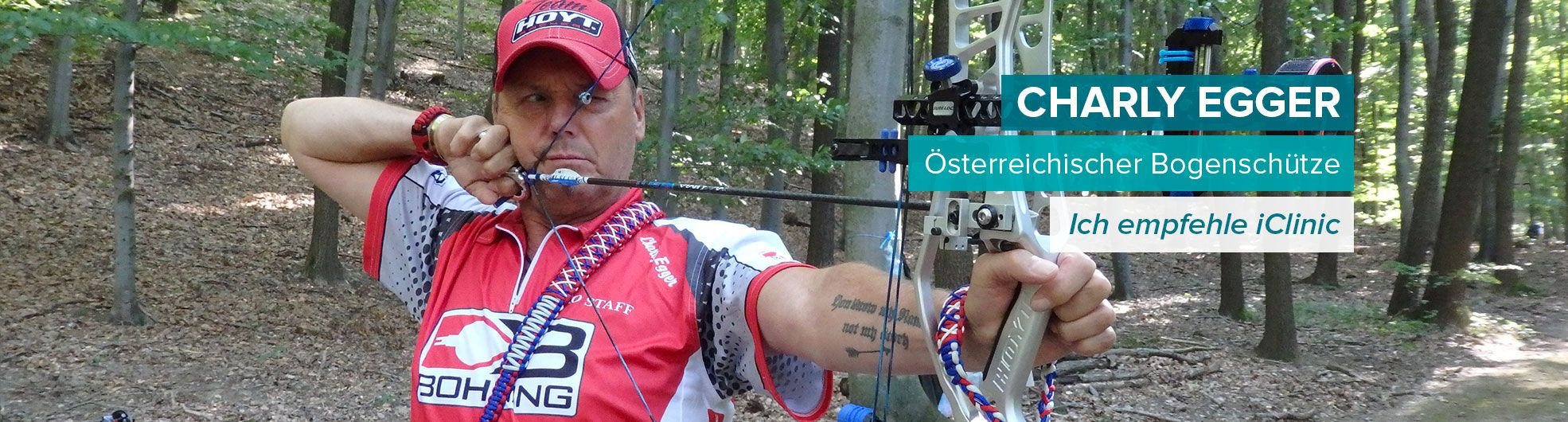 Augenlaser operation Österreichischer Bogenschütze Charly Egger