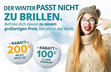 WINTERAKTION für ReLex SMILE 3D und Z-LASIK Premium